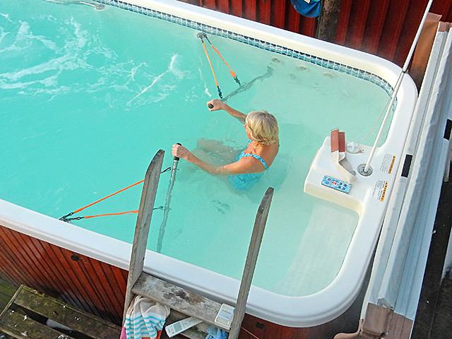 Roing og trening i swimspa fra Spatec Norge