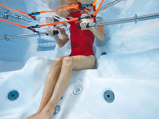 Trening i swimspa fra Spatec Norge