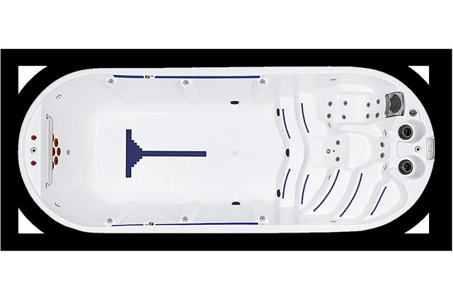 aqua fit pro swimspa og motstrømsbasseng fra spatec
