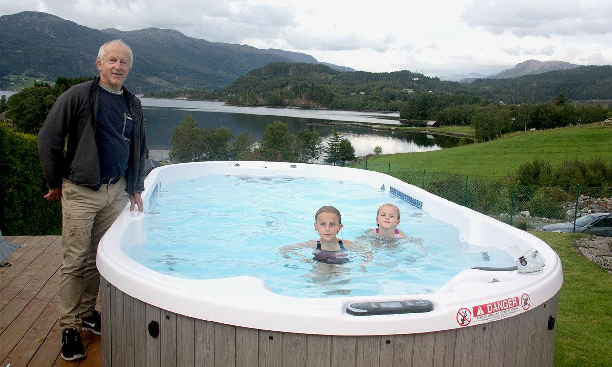 Det gode liv i swimspa og motstrømsbasseng - spa basseng for bruk inne og utendørs